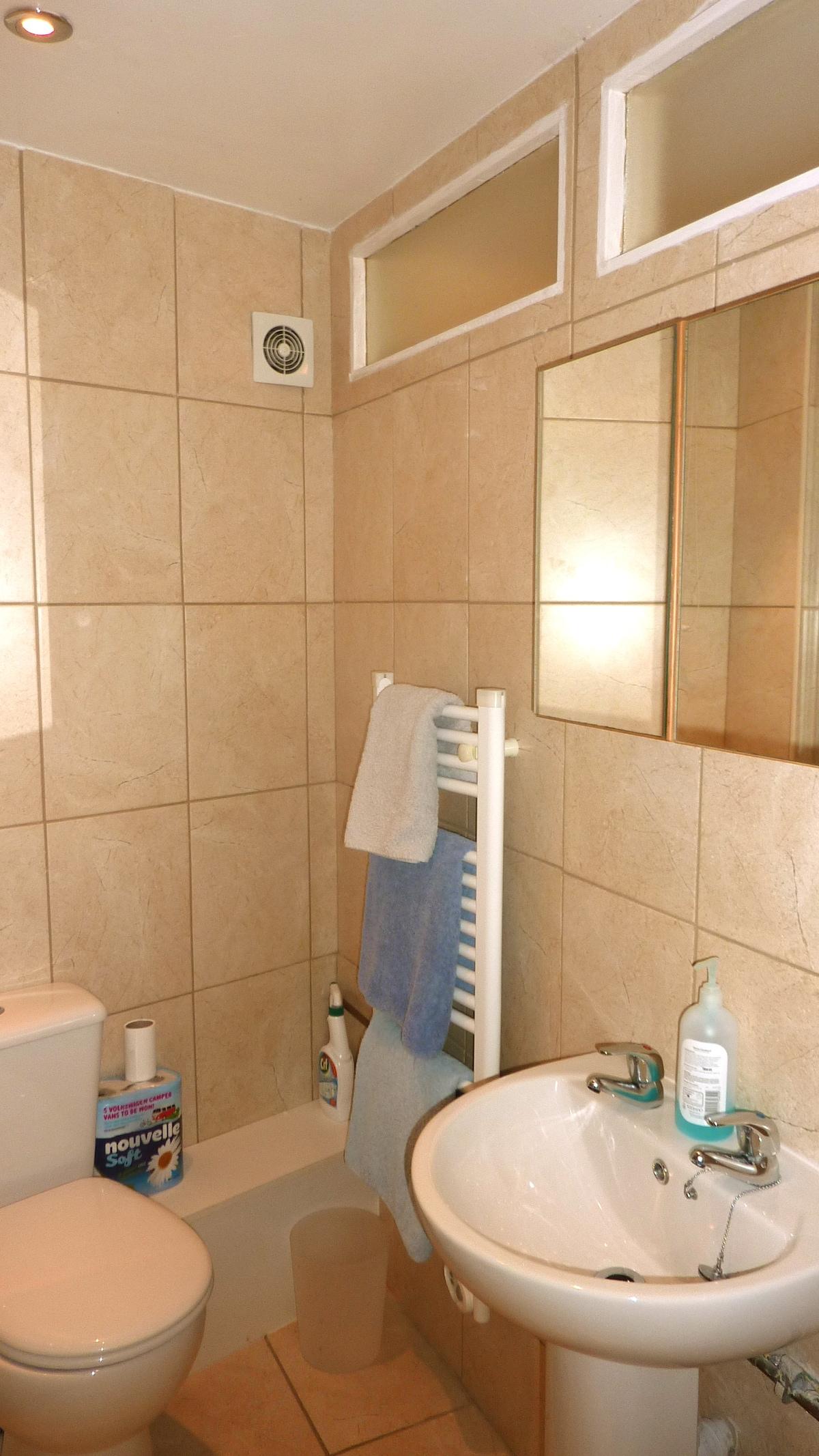 Clean and warm bathroom