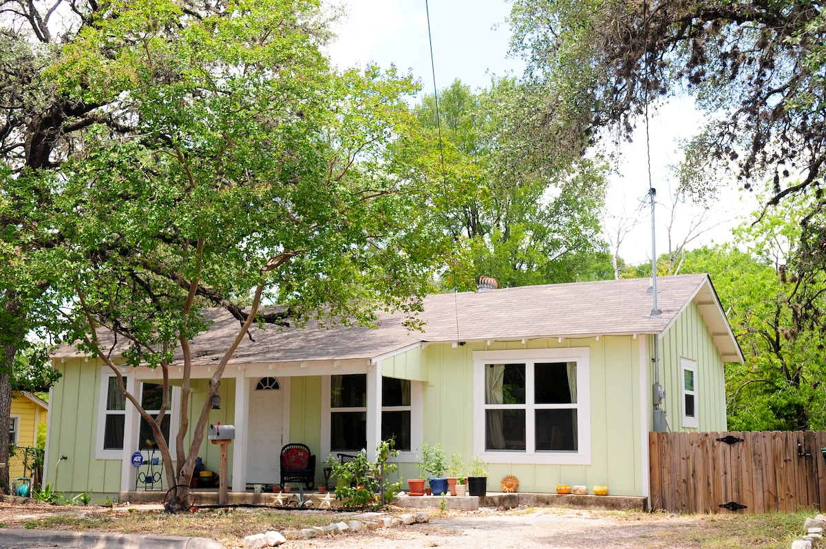 A private driveway as well as off-street parking.  Central location!