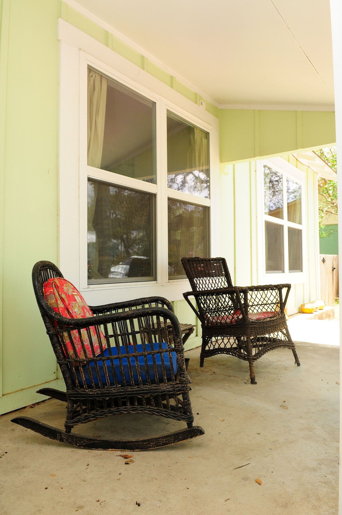 Enjoy the front porch in the cool mornings or evenings.
