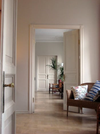 Looking through the enfilade at the front of the apartment