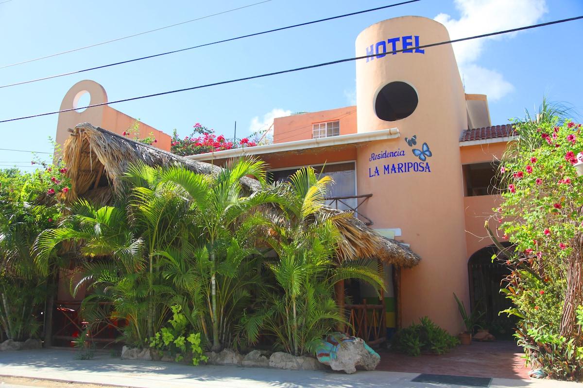 Hotel Residencia from Tulum
