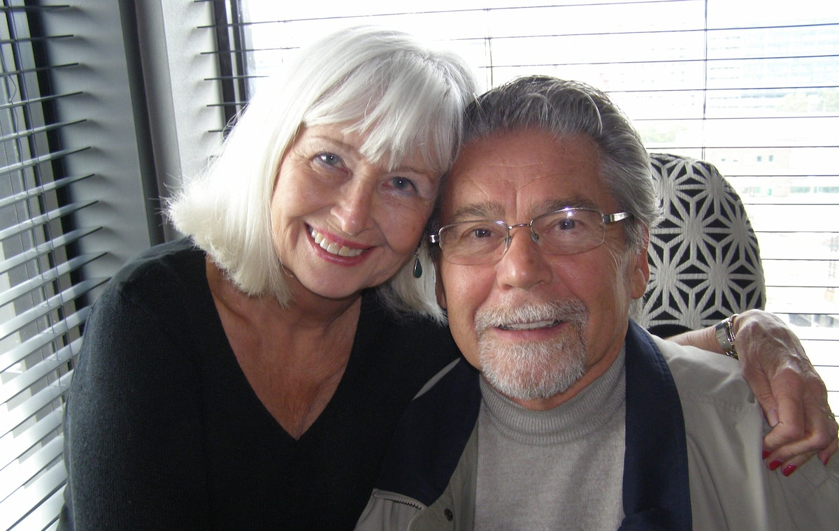 I am a retired professional and my husband Peter a
