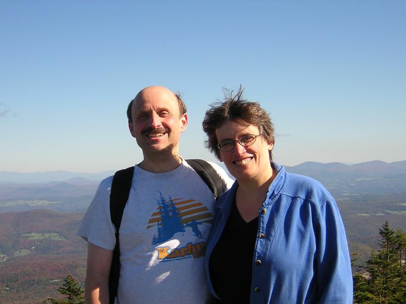 My husband Mike and I enjoy camping, hiking, and e