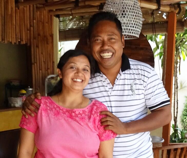 Wayan and Wayan, Balinese couple. Wayan, husband,