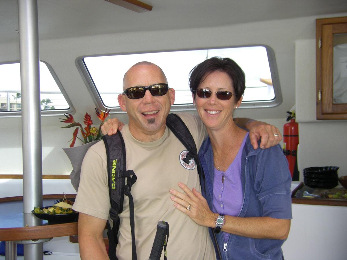 Kevin & Tracie fra Kihei