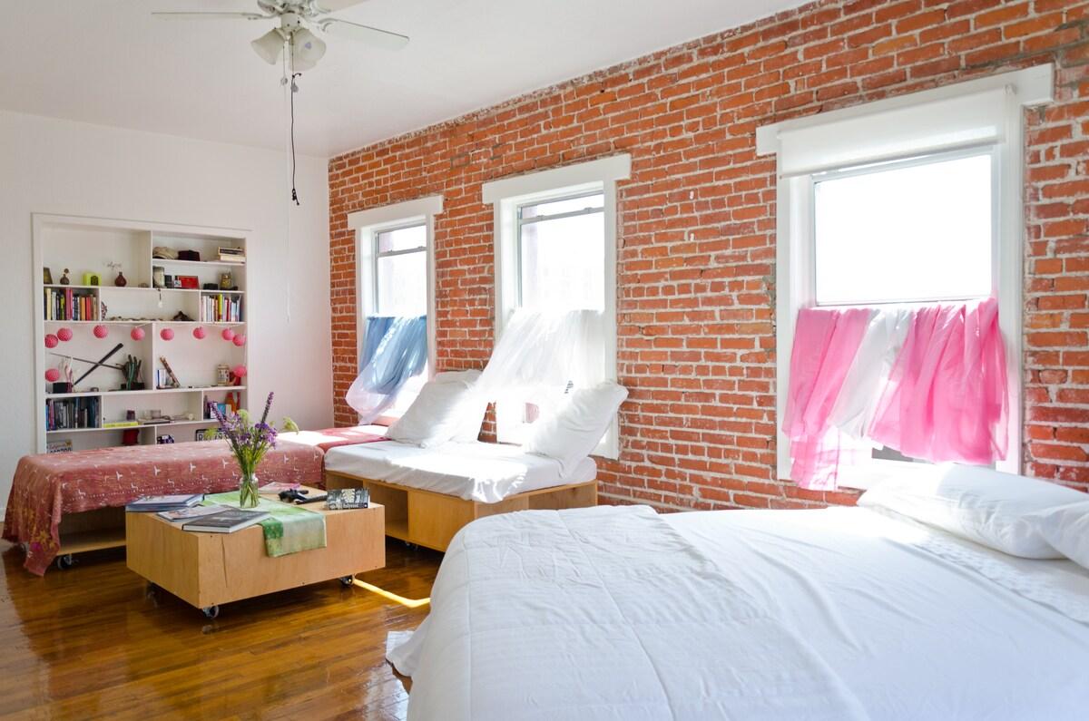 My room, living room, where i sleep, shared space