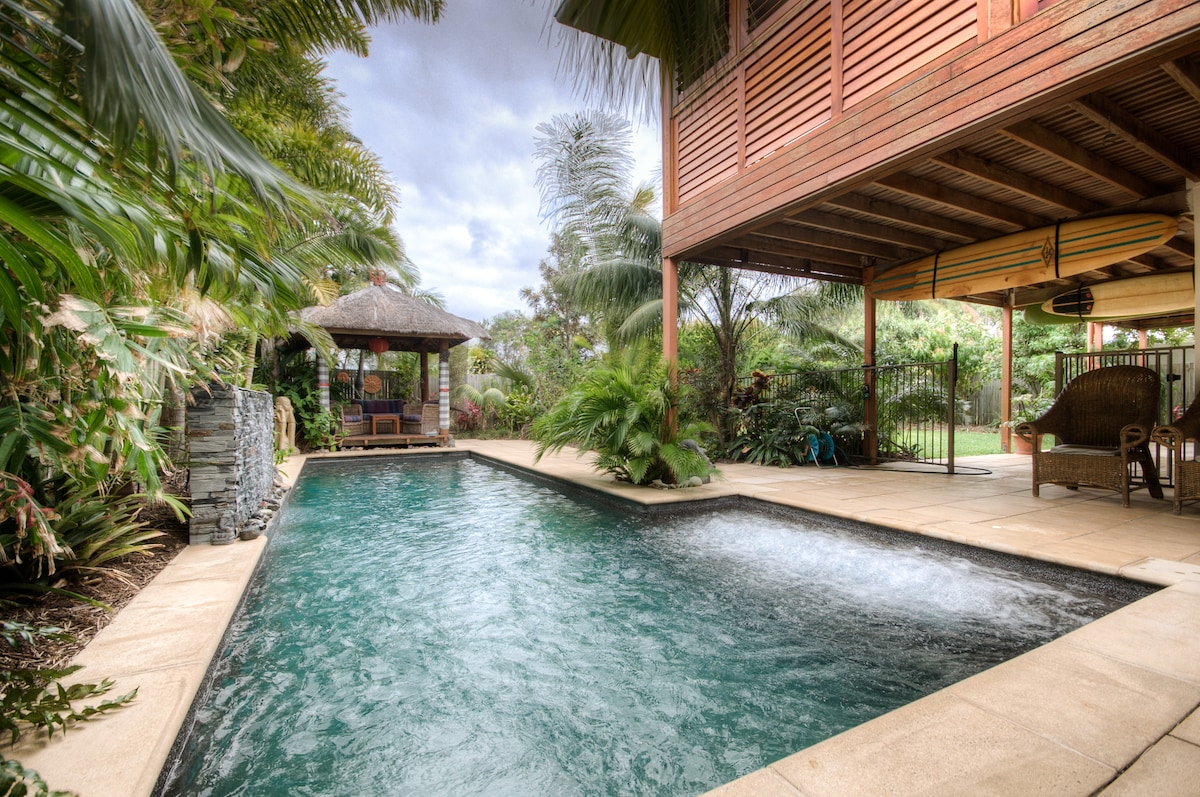 relax in the 9.2m pool