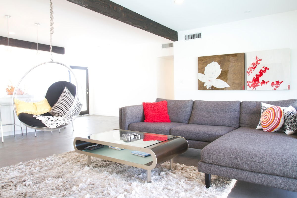 Comfortable living space with bright natural light to fill out the room!
