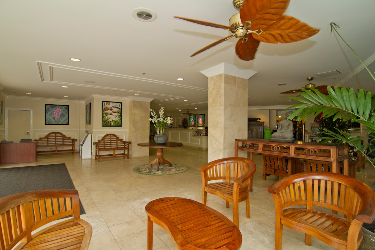 Your adventure begins as you enter an upscale beautiful lobby