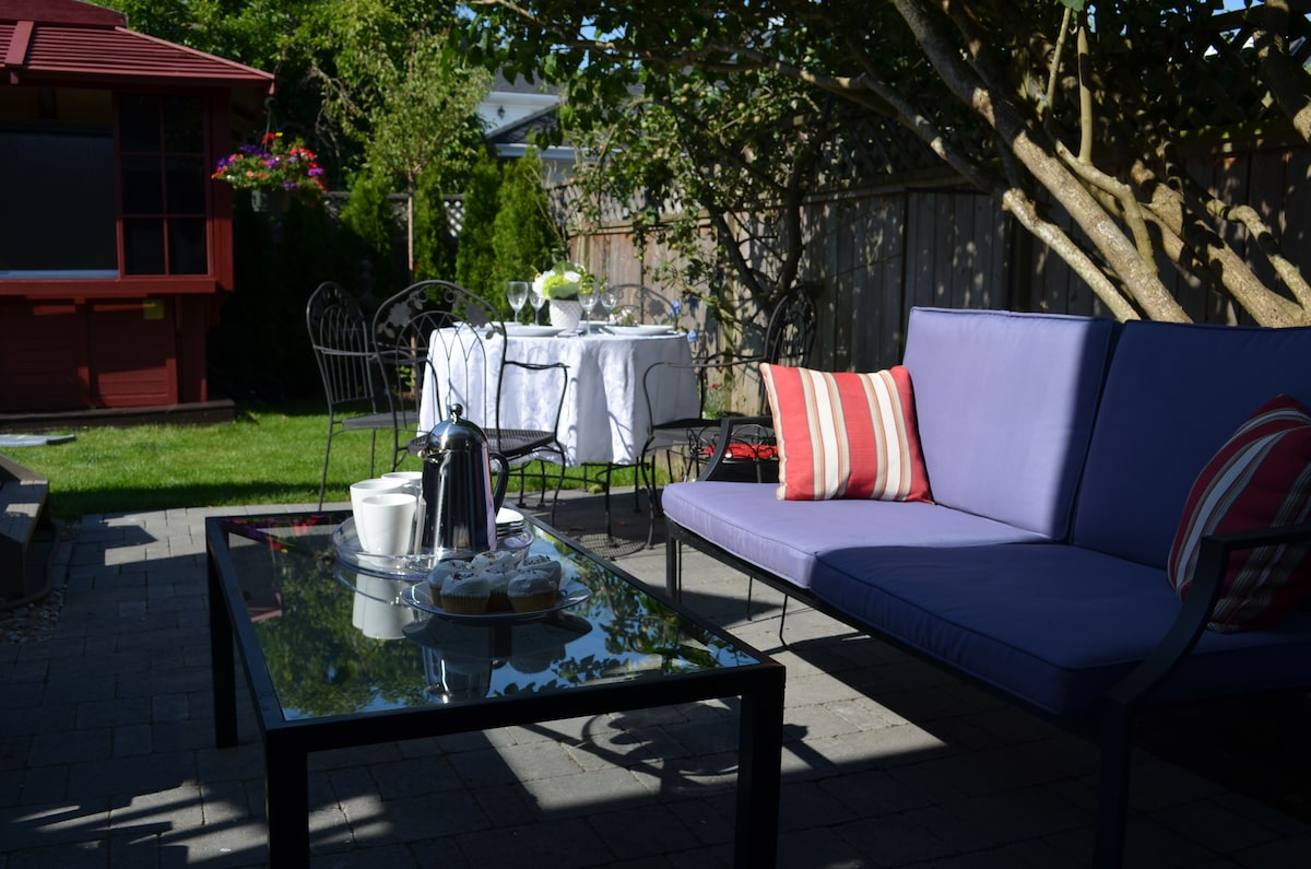 Relax on the patio and enjoy a cup of coffee