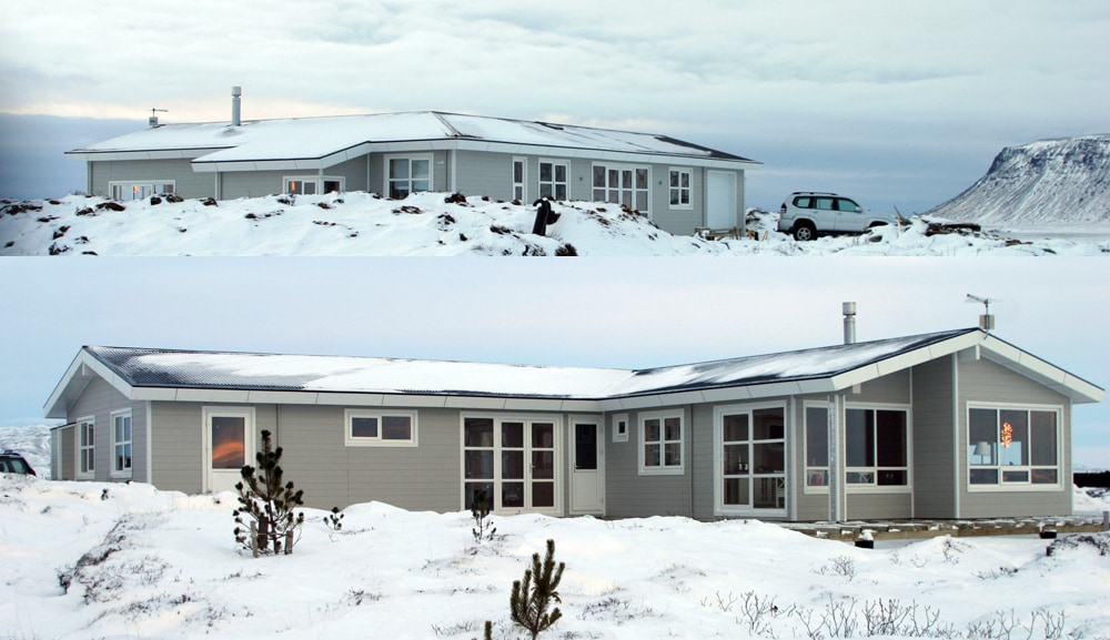 House from 2 sides - wintertime - north and south
