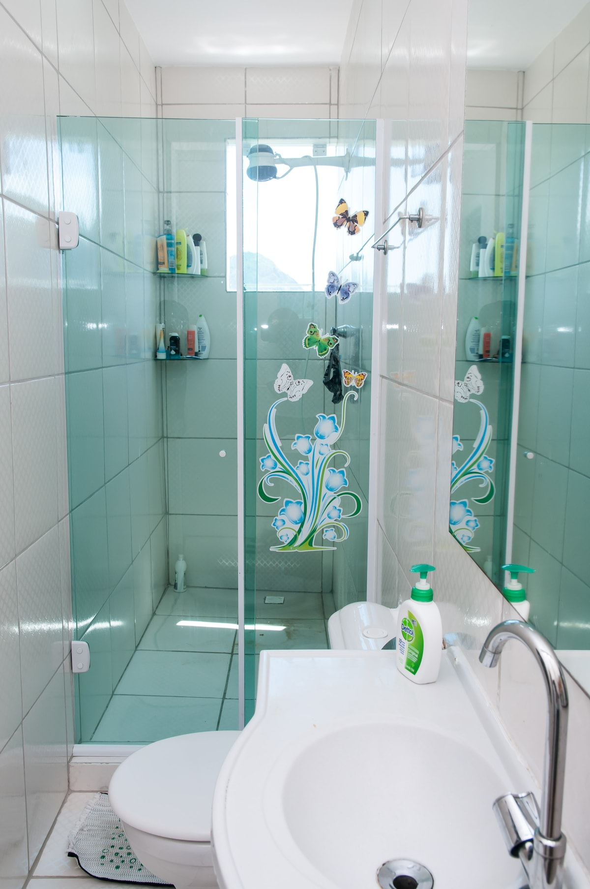 This shower room and WC is shared between the 2 rooms which are for guests.