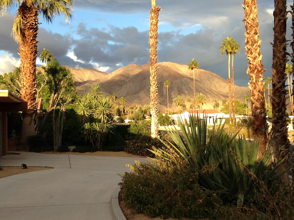 Sunrise from front of Main House, facing west toward Shadow Mountain.