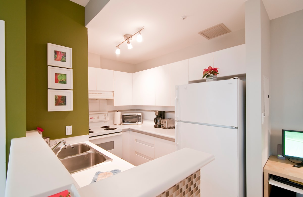 A fully equipped kitchen, if you feel like cooking