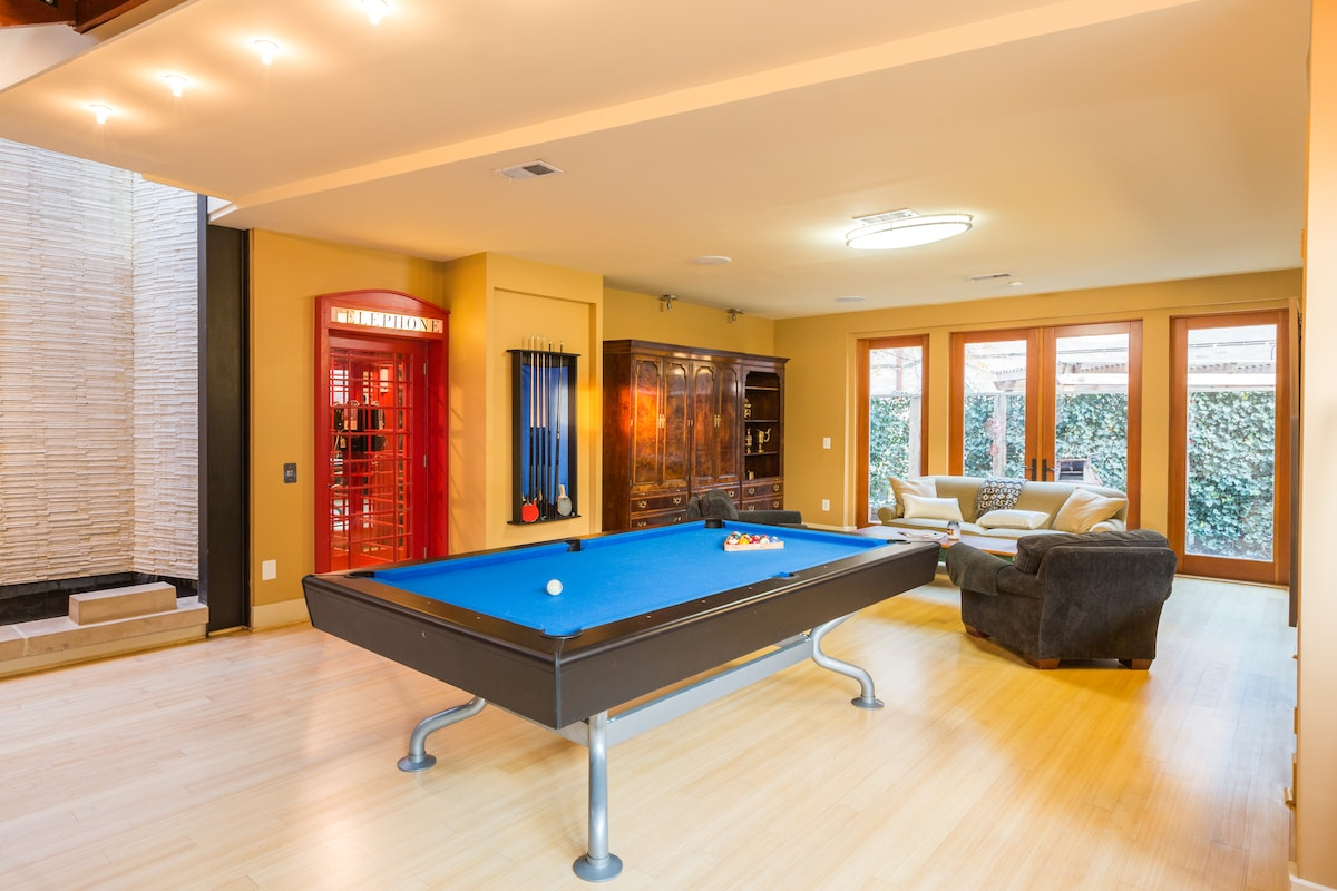 PING PONG and a POOL TABLE