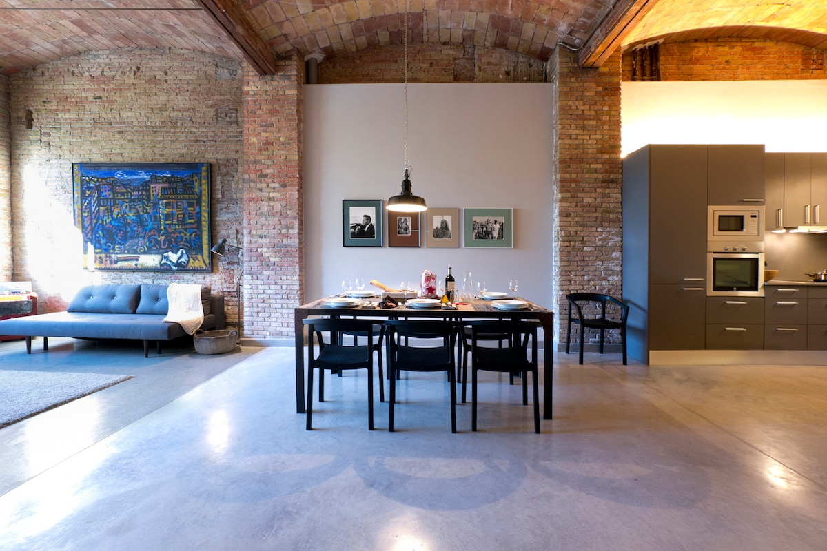 Poblenou industrial loft 1 in barcelona - Location loft barcelone ...