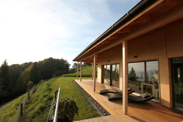 Design wood house with amazing view