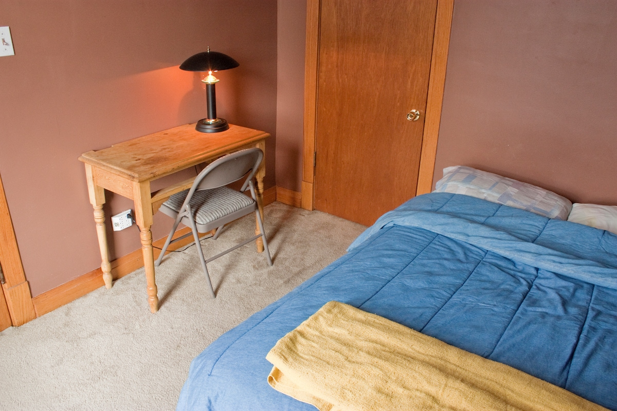 """This is an older picture. We now have a bigger """"Queen Size"""" Bed and a newer desk"""
