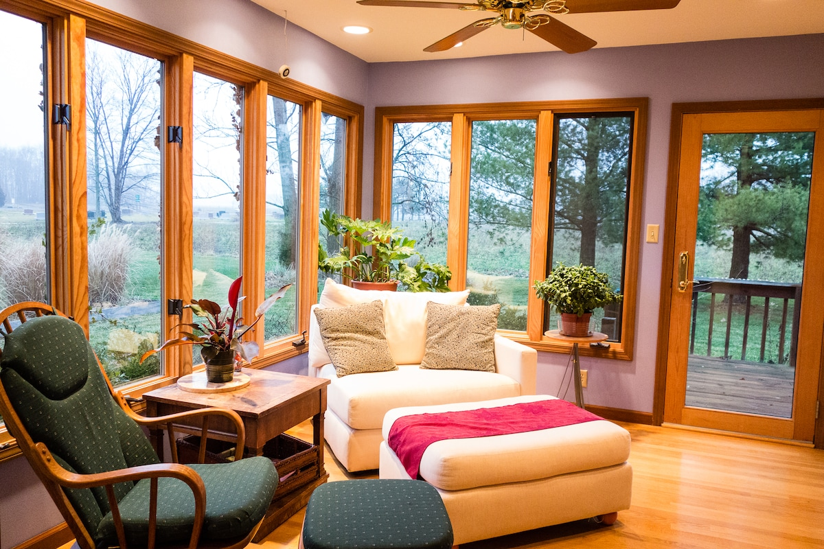 Sunroom  - Great place to unwind and relax