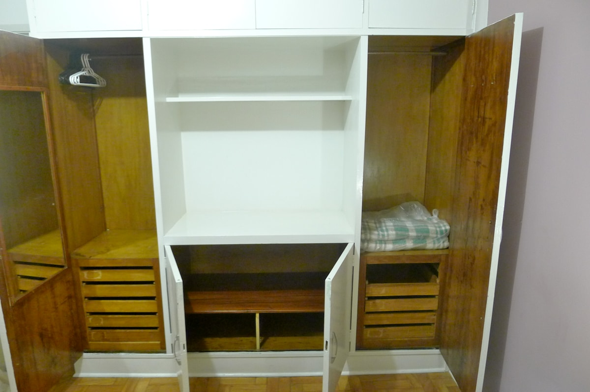 Wardrobe - there is plenty of space (extra blanket for colder nights...)