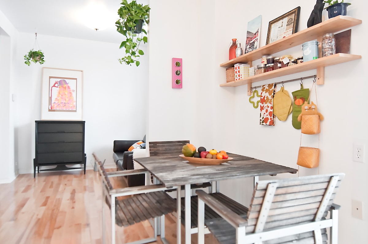 Open space cuisine-salon / open space kitchen-living room