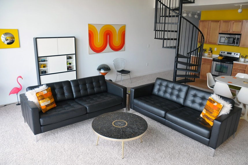 Our mid-century modern stylings.