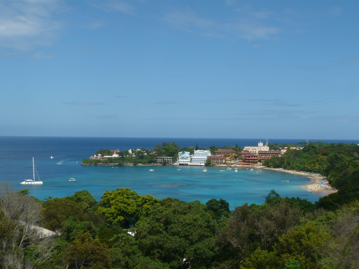 View from the penthouse's terrace to Sosua beach - Do you like it? There is no better one...
