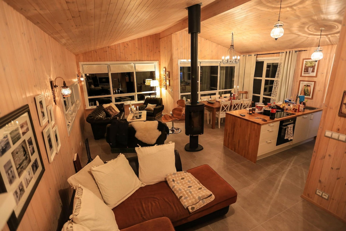 The living room and a part of the Kitchen - Just perfect