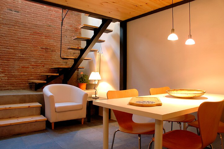 Apartment Barcelona - Dinning room. Apartamento Barcelona - Comedor. Appartamento Barcelona - Sala da pranzo.