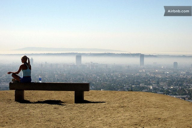 Just a 5 minute walk from World Famous Runyon Canyon, with sweeping views of the whole city of LA!