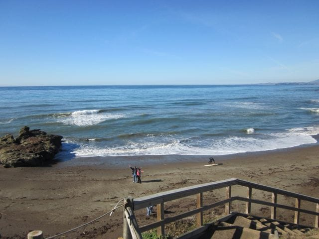 La Conchita is surrounded by miles of beaches at every exit of Highway 101. Each one is more pristine and beautiful than the next. This is the beach at Seacliff 2 miles from the house.