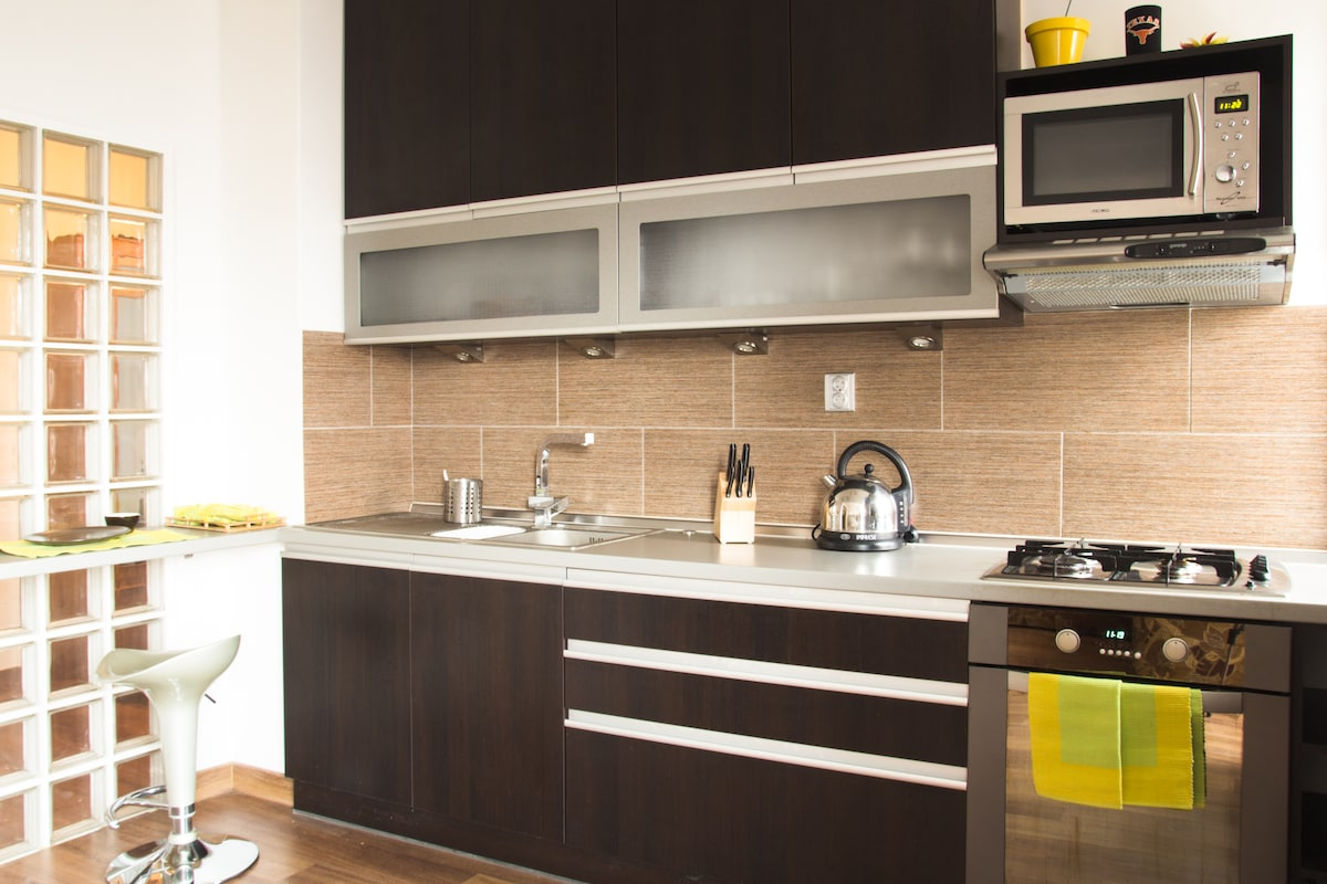 Kitchen is brand new and fully equipped with anything a chef needs.