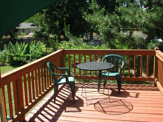 Your own Deck on 4 acres of lush gardens