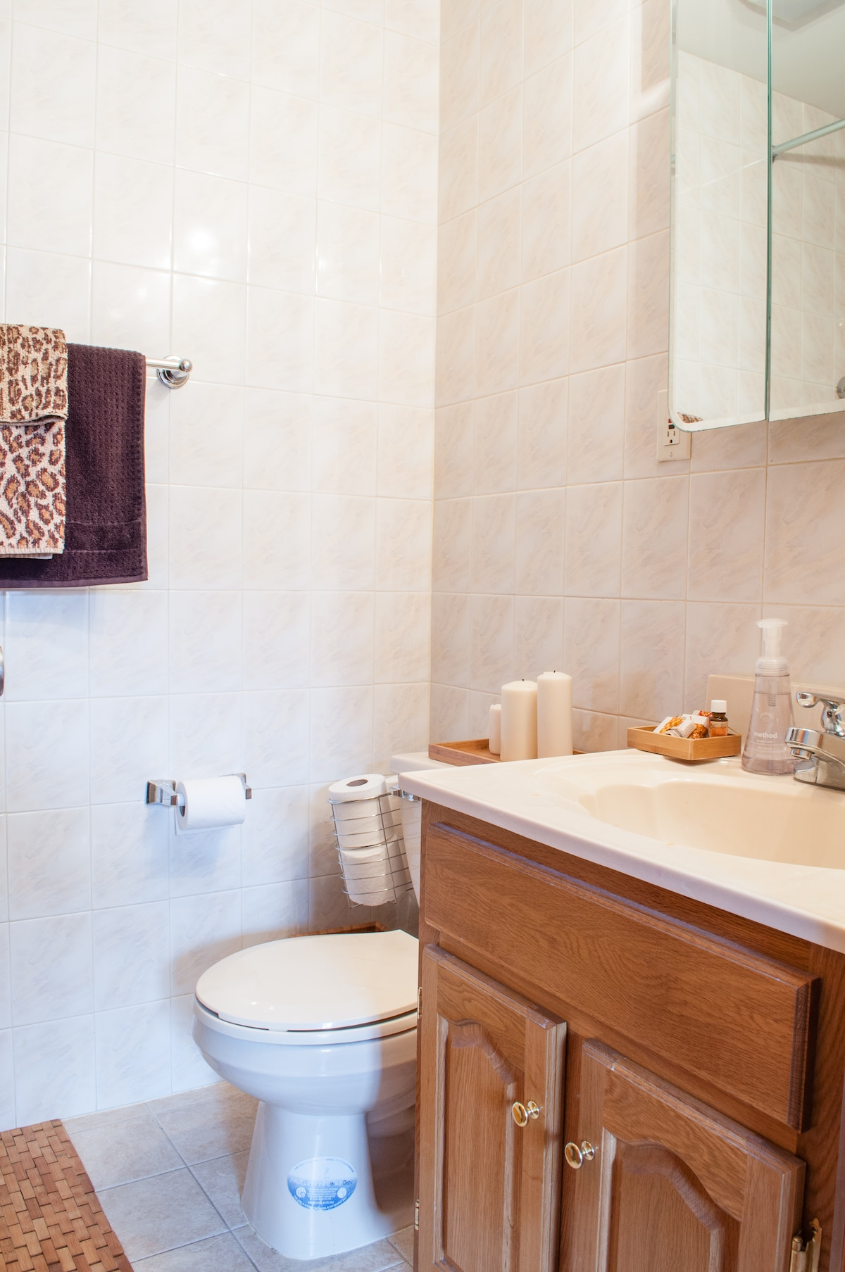 private bath and shower (ensuite)
