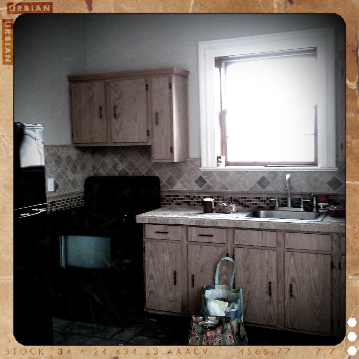 shared-space kitchen.