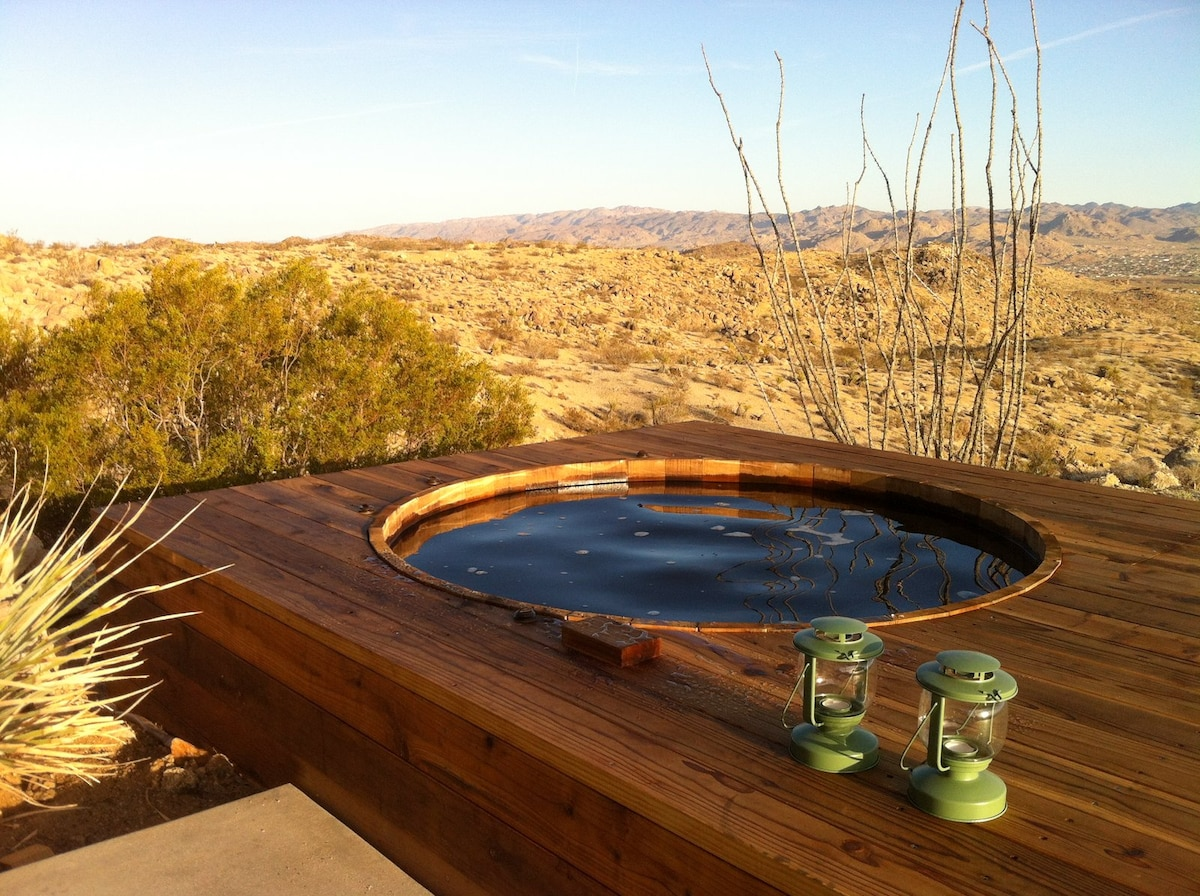 Large cedar hot tub. Or a place to cool off in the summer.