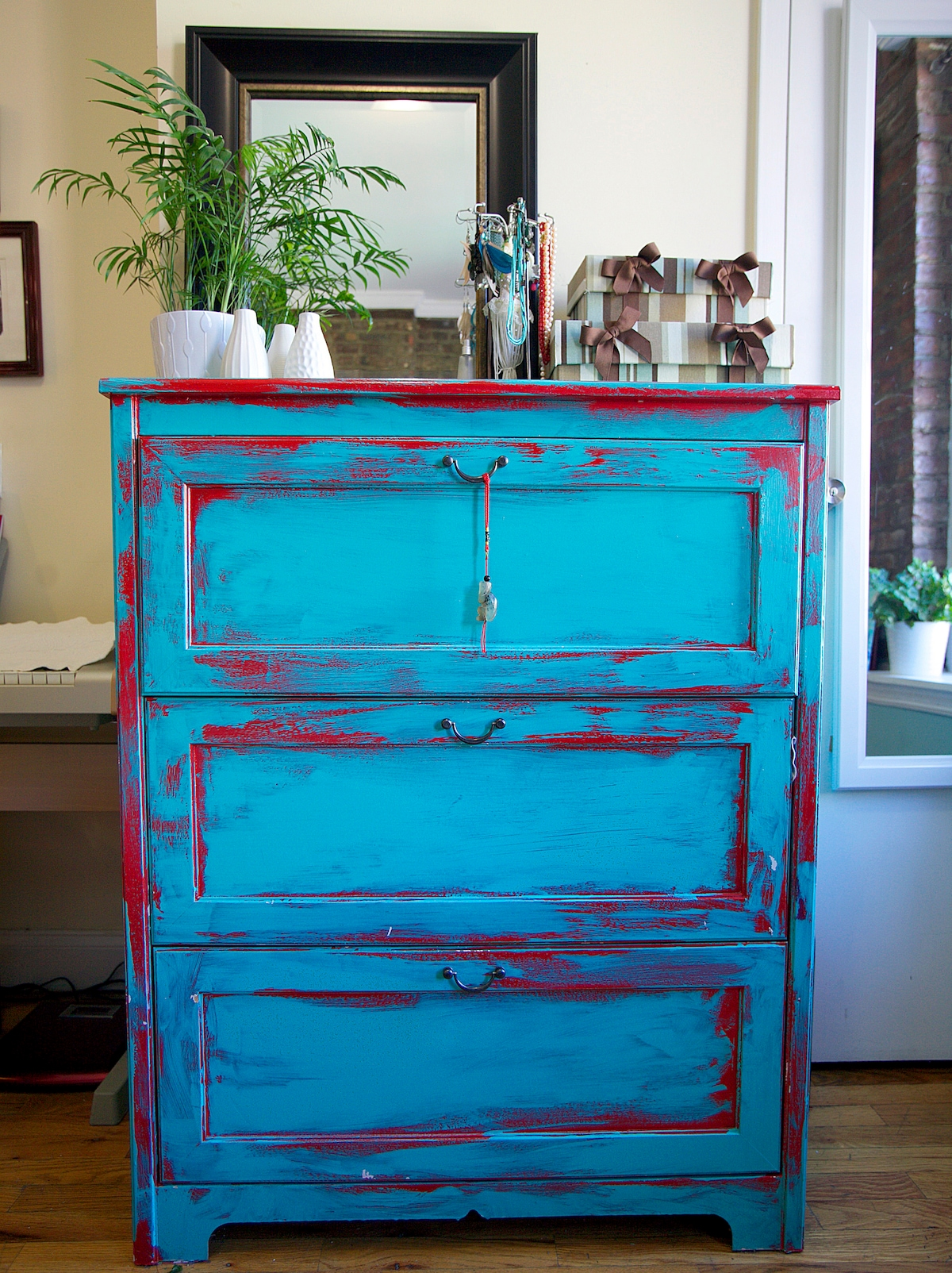 Hand painted dresser by yours truly :)