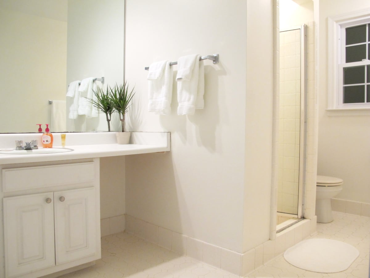 Your own private bathroom is attached to the room