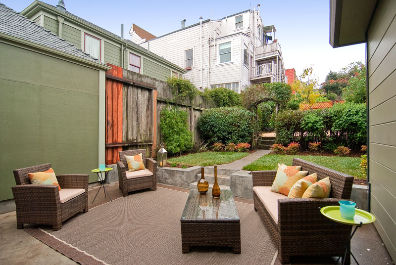 Outdoor space (we have different outdoor furniture that includes 2 adirondack chairs)