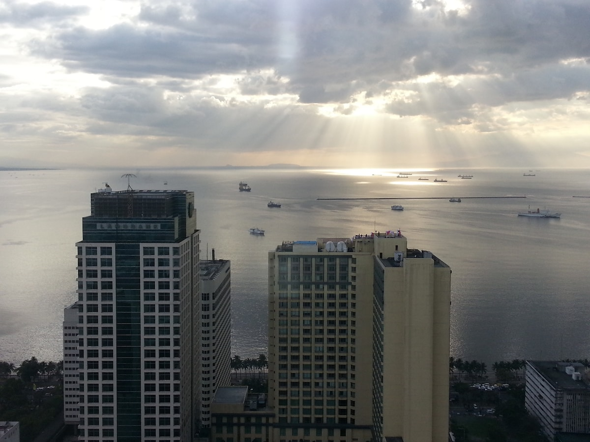 Birch Tower, a view at my 43rd floor condo before sunset