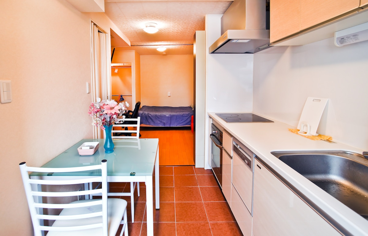 Beautiful and spacious kitchen and the bed room.