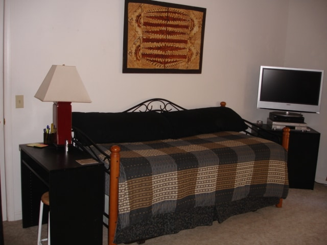 Comfy Day Bed has memory foam mattress topper.