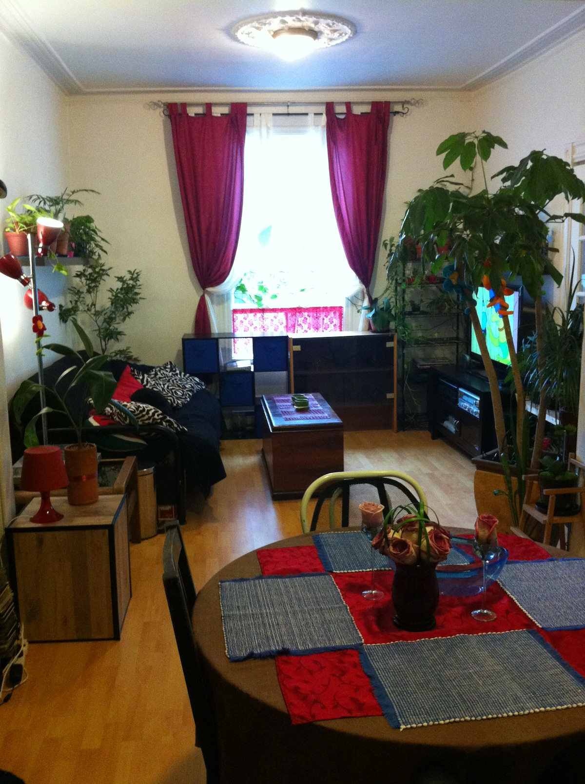 The living room and dining room: a place where life is good - Le salon et la salle à manger: un lieu où il fait bon vivre