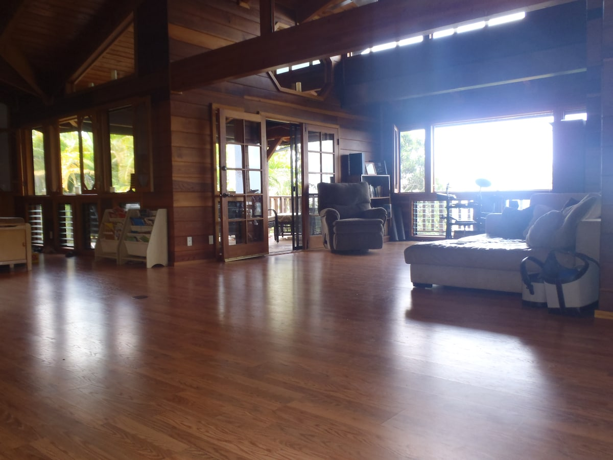 spacious great room suitable for dancing or a banquet
