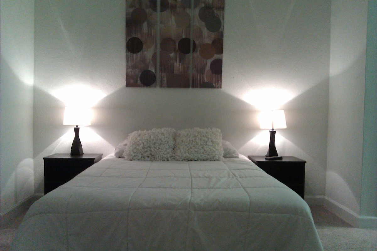 Upscale furnishing in over sized Studio Suite.