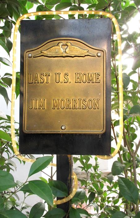 *DOORS JIM MORRISON LAST U.S. HOME!