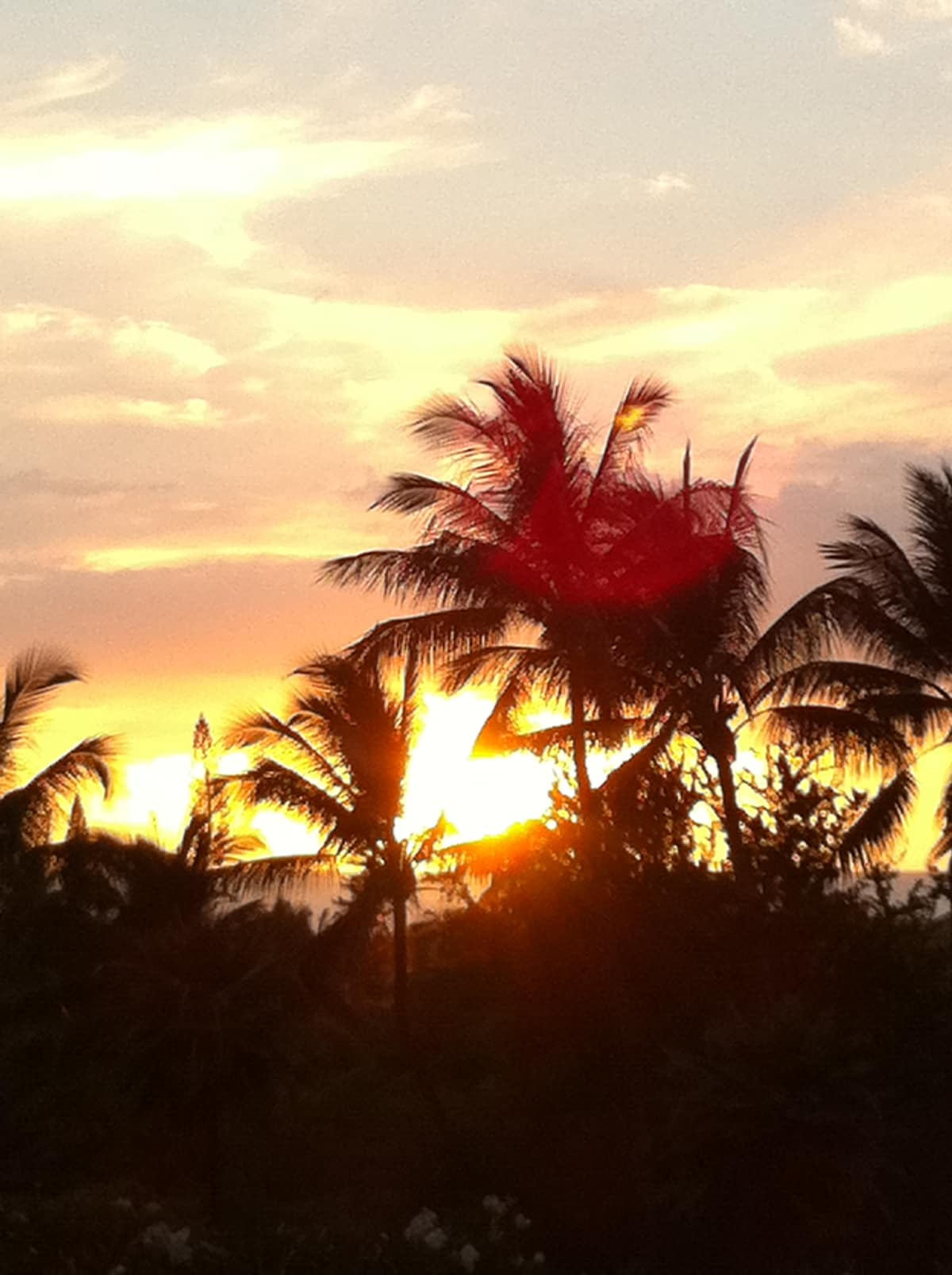 Stunning sunsets are seen from condo lanai.
