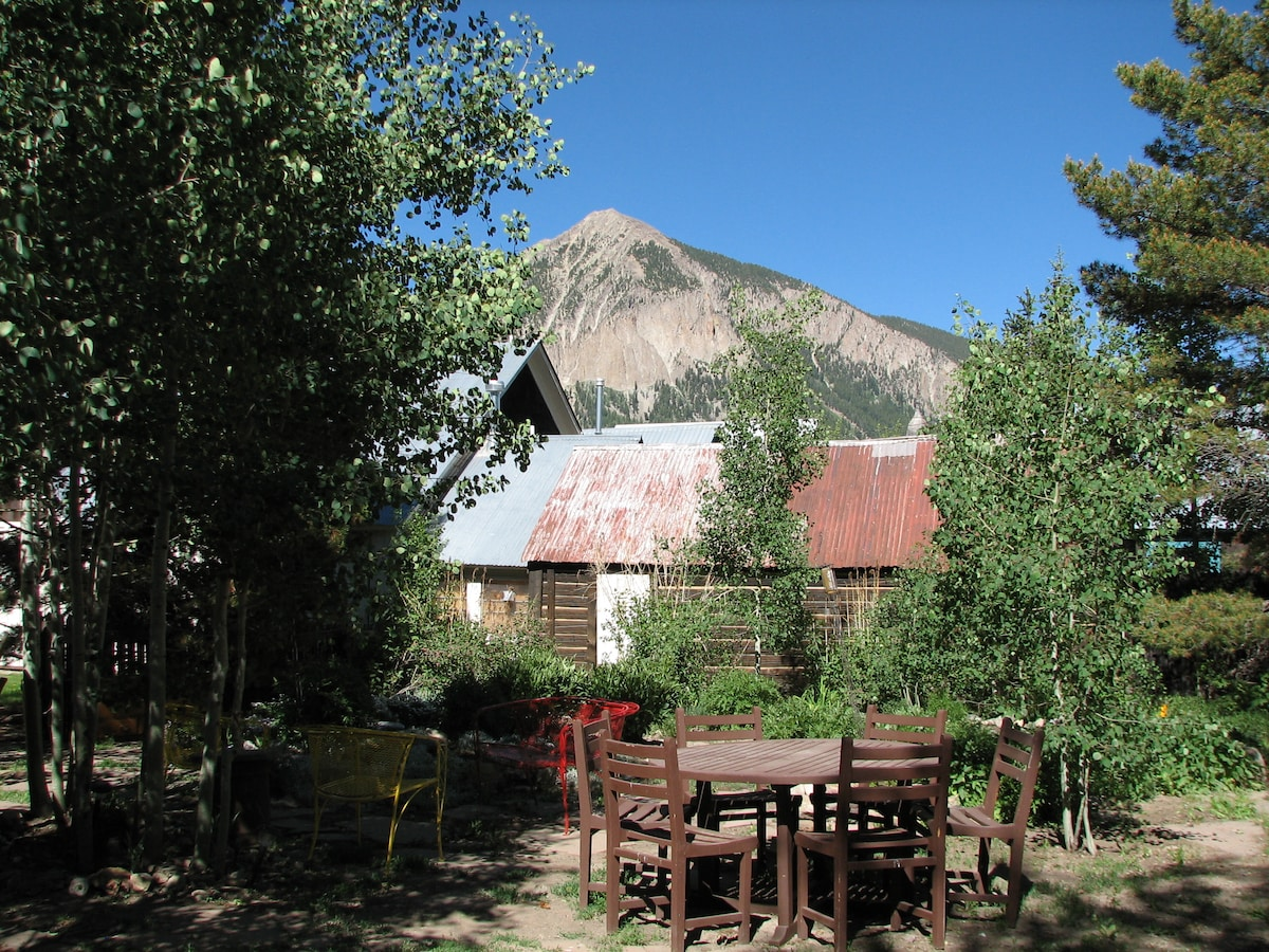View of Mt Crested Butte from the backyard