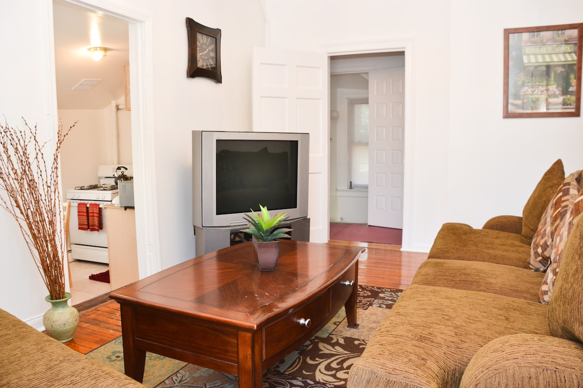 Well Decorated Living room with cable T.V ,Wi Fi