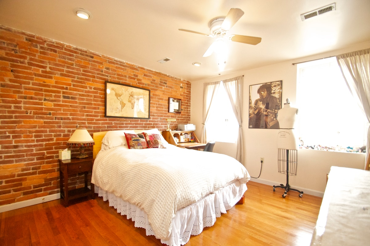 Your bedroom! With bamboo frame and Organic bedding from Sachi Organics, Santa Fe.